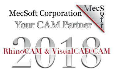 MecSoft, RhinoCAM, VisualCAD/CAM 2018